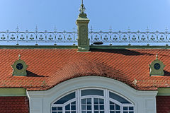 Roof of historic building Stock Photos