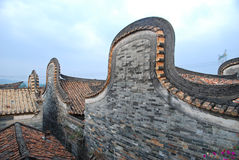 Roof of historic house. In china Royalty Free Stock Photos