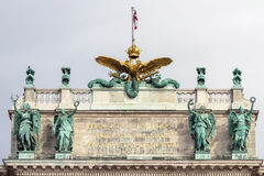 The roof of the Hofburg Palace in Vienna, Austria, close-up Stock Image