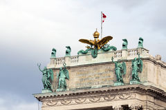 The roof of the Hofburg Palace in Vienna, Austria, close-up Stock Images