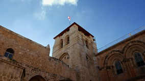 Roof of the Holy Sepulcher Church in Jerusalem stock footage
