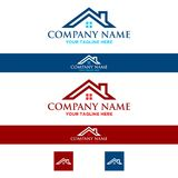 Logo house roof real estate, construction. Roof home logo, with luxurious and sophisticated designs, for real estate and construction Stock Photo