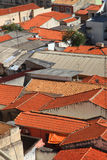 Roof of homes. Red tailed roofs of homes in Sorocaba Brazil Stock Image