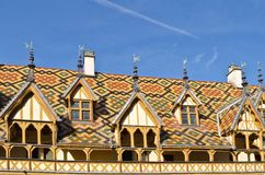 The roof of the Hospice, Beaune Royalty Free Stock Image