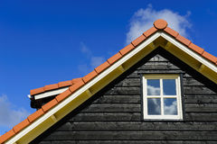 Roof of a house. Roof of a wooden house Royalty Free Stock Images