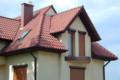 Roof_of_the_house. Roof of a beautiful suburban house royalty free stock photo