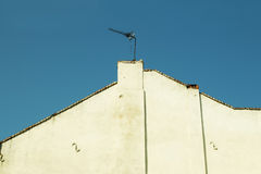 Roof of the house. With an antenna in Lviv Stock Photos