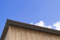 The roof of the house and  blue sky Stock Photo