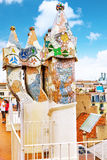 Roof house Casa Batlo. Royalty Free Stock Photography