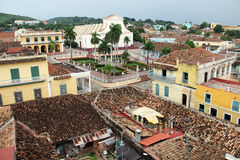 On the roof of a house in the city of Trinidad (Cuba). Picture taken on a rooftop in the city of Trinidad (Cuba stock photos