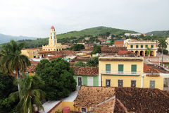On the roof of a house in the city of Trinidad (Cuba). Picture taken on a rooftop in the city of Trinidad (Cuba royalty free stock photos