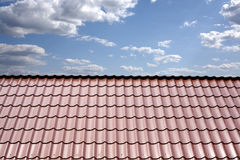 Roof of a house covered with metal Stock Photography