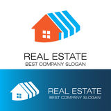 Roof and house element logo Royalty Free Stock Images
