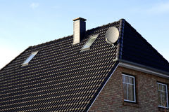 The roof of the house with nice window Royalty Free Stock Images