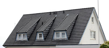 The roof of the house with nice window Royalty Free Stock Image