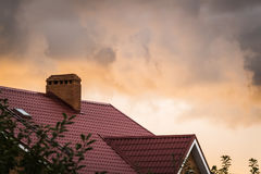 Roof of the house Royalty Free Stock Photos