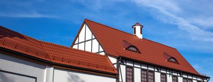 The roof of the house royalty free stock photo