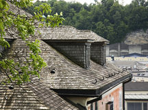 Roof of house in Salzburg. Austria Stock Photos
