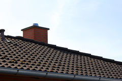 Roof of the house and the sky Royalty Free Stock Photography