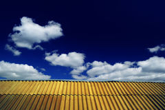 The roof of the house and the sky Stock Photography