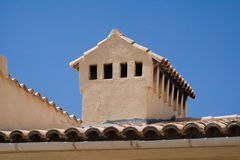 Roof of a house in spain. You see bricks and a roof of a house on the spanish island mallorca, in the north of the island Stock Photography