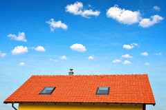Roof house with tiled roof Royalty Free Stock Photos