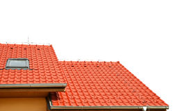 Roof house with tiled roof Stock Images