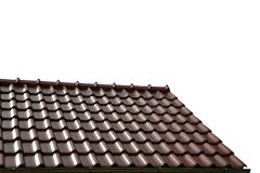 Roof house with tiled roof Stock Photo