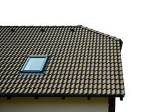 Roof house with tiled roof Royalty Free Stock Photo