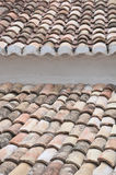 Roof of a house with tiles Stock Image