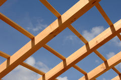 Roof of house under construction Stock Image