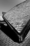 Roof of a house under shade royalty free stock photos