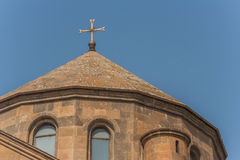 Roof of Hripsime church just outside Yerevan Stock Photography