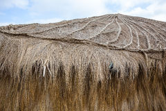 Roof of hut. Or hut of straw used for shelter in the Andean highlands Royalty Free Stock Images