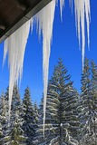 Roof icicles Stock Images