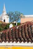 Roof and the Iglesia Church of Santo Domingo Cartagena Stock Photography