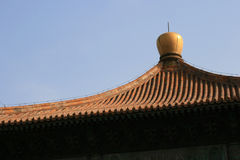 The roof of the Imperial College in Beijing (China) Royalty Free Stock Photo