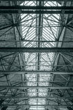 Roof of industrial building. ceiling of factory with steel beams Royalty Free Stock Image
