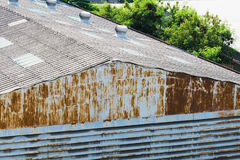 Roof industrial zone Stock Photo