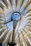 Roof inside Sony Center. In Berlin Stock Image