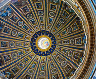 Roof inside of St Peters Basilica Stock Photos