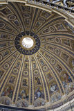 Roof inside of St Peters Church in Rome Stock Photography