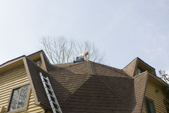 Roof inspector Stock Images