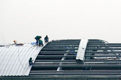 Roof Installer Royalty Free Stock Photos