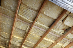 Roof with Insulation Stock Photography
