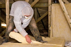 Free Roof Insulation Royalty Free Stock Photography - 25176327