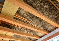 Roof insulation Royalty Free Stock Photography