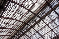 Roof Iron Structure. Of Antwerp Central station Stock Photography