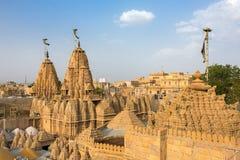 Roof of the Jain temple in Jaisalmer Stock Image