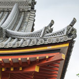 Roof of Japanese Buddhism Temple Royalty Free Stock Photo